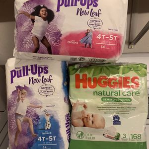 Pull Ups Baby Wipes Bundle for Sale in Long Beach, CA