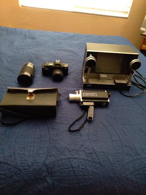 Vintage video camera and video camera equipment. for Sale in Riverside, CA