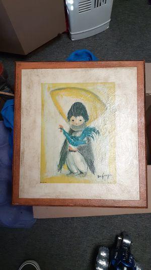 """""""Ettore"""" Ted DeGrazia picture. Matted boy/Chicken. (c) 1967. for Sale in Wichita, KS"""