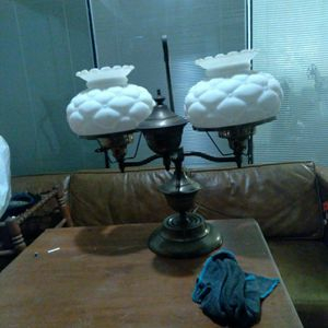 Vintage Milk Glass Double Arm Student Desk Lamp for Sale in Grand Prairie, TX