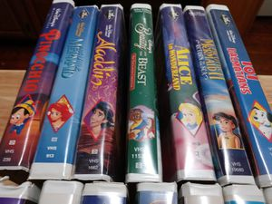 Disney VHS Collection 14 total with a FREE!!!!! DVD VHS player $54 for Sale in Philadelphia, PA