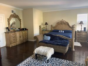 Full Queen Bedroom Set W/Granite Tops and FREE desk. for Sale in Chula Vista, CA