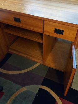 Wood Converted Desk, Lors Of Storage Free Chair. for Sale in Everett,  WA