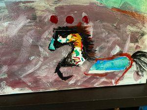 "Acrylic painting ""Prancing"" Artist-Sapphire Faro for Sale in Alexandria, VA"