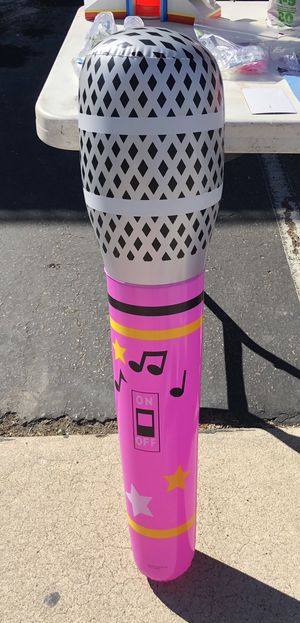 Inflatable microphone/guitar for Sale in Lakeside, CA
