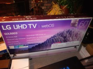 60 INCH SMART LG FLAT COLORED TV. BRAND NEW IN THE BOX STILL for Sale in Willoughby, OH