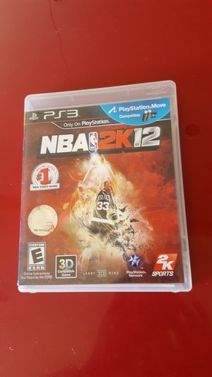 NBA 3D Games 2K12 For PlayStation 3 PS3 Basketball with case. No scratch. Super Great condition. Like new for Sale in Long Beach, CA