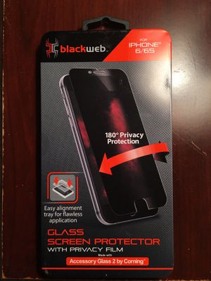 Blackweb for iPhone 6/6s Glass Screen Protector with Privacy Film for Sale in Norfolk, VA