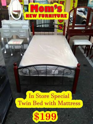 New Twin bed with New Mattress for Sale in Fresno, CA