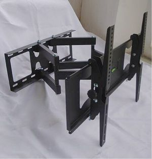 New in box 32 to 65 inches swivel full motion tv television wall mount bracket 120 lbs capacity with hardwares included soporte de tv for Sale in Los Angeles, CA