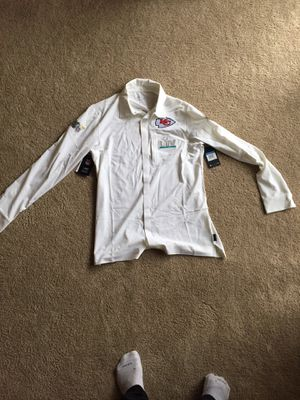Nike NFL Super Bowl LIV Kansas City Chiefs Media Long-Sleeve Button Up Size M for Sale in Wichita, KS