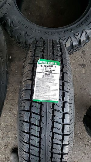 Brand new set of castle trailer tires 225 75 15 st for Sale in Phoenix, AZ