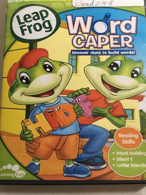 LEAP FROG WORD CAPER UNCOVER CLUES TO BUILD WORDS for Sale in New Castle, DE
