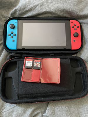 Nintendo Switch with Super Smash and Mario Kart for Sale in Garden Grove, CA