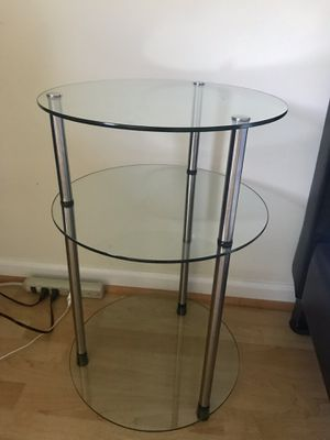 2 Silver Glass End Tables for Sale in Arlington, VA