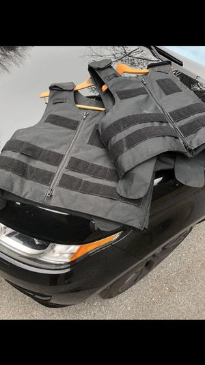 2 PT Armor Vests - IIIA with plates/inserts - see labels pictured for Sale in Rockville, MD