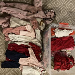 Girls 3-6 Month Clothes/Coats Full Bin for Sale in Clarence, NY