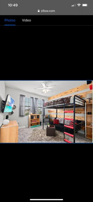Loft Bed with mattress (full) for Sale in Orlando, FL