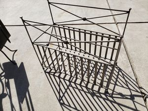 Ornymental wrought iron metal Magazine rack for Sale in Fresno, CA