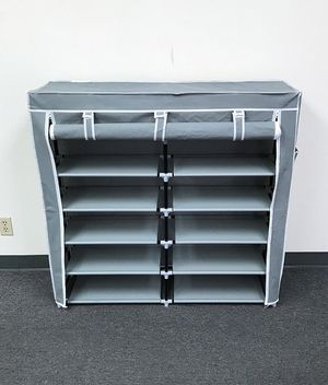 """$25 each NEW 6-Tiers 36 Shoe Rack Closet Fabric Cover Portable Storage Organizer Cabinet 43x12x43"""" for Sale in Whittier, CA"""