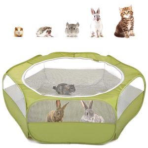 Pawaboo Small Animals Playpen, Waterproof Small Pet Cage Tent with Zippered Cover, Portable Outdoor Yard Fence with 3 Metal Rod for Kitten/Puppy/Guine for Sale in Henderson, NV