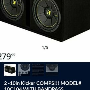Package Deal...!!! 2 10in Kicker Comps!! In Kicker Custom Box,And JVC Touchscreen Multimedia Dvd,CD, Bluetooth,Smart Connect,Hands Free ,Backup Camera for Sale in Corona, CA