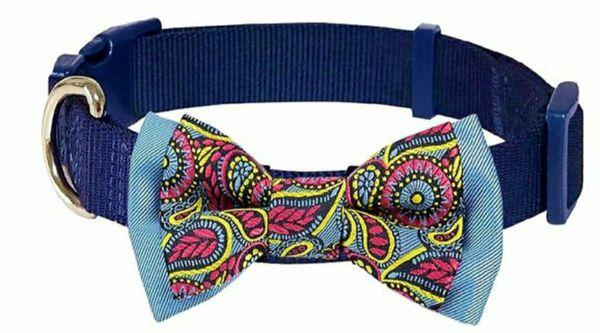 Blueberry Pet 20+ Patterns Bandanas or Bowtie Dog Collars Medium