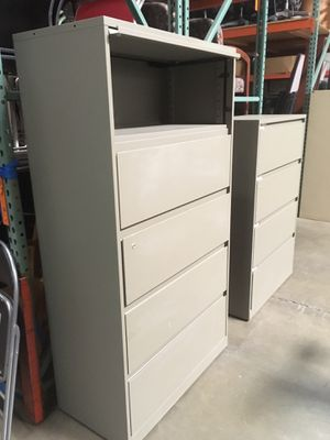 Medium gray steel case file cabinets in different sizes all lateral for Sale in Phoenix, AZ