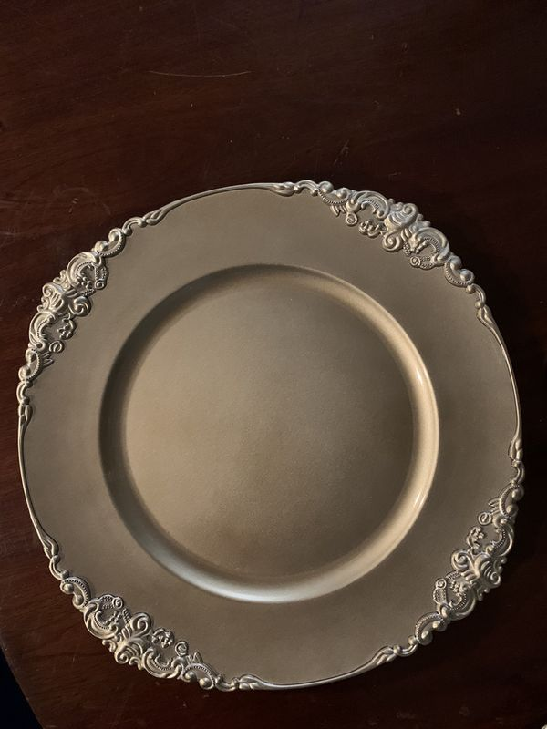 Vintage gold charger plates