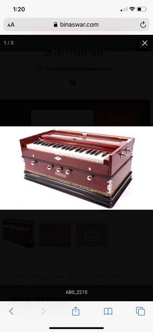 Bina Harmonium No 11 With Coupler 42 full size keys (3½ octaves) 7 Stops for Sale in Bakersfield, CA