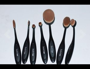 Brand-new!!! New 7pcs Black Oval Toothbrush Makeup Brush Set Cream Contour Powder Concealer Foundation Eyeliner Cosmetics Tool for Sale in Miami Springs, FL