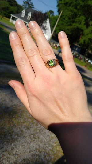 Peridot and Gold Plated Ring for Sale in Little Rock, AR