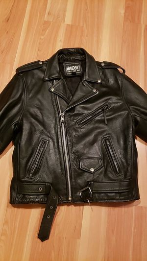 Raider Brand Premium leather motorcycle jacket size 44 mens for Sale in Pleasant Hill, CA
