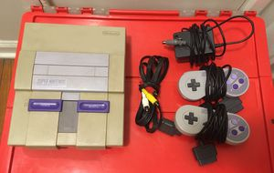 Super Nintendo game system snes complete console 2 controllers classic era for Sale in Cleveland, OH