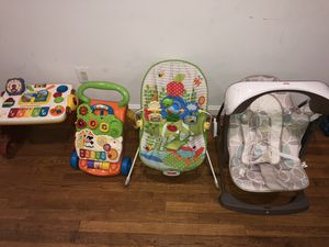 Baby chair swing, bounce chair & toys. All for $50 for Sale in Wheaton, MD