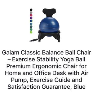 Gaiam Classic Balance Ball Chair For Home/Office for Sale in South Gate, CA