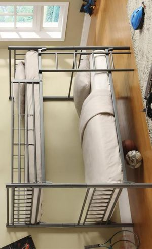 BEST Price 👑 Brand NEW Trillium Gray Metal Twin/Twin Bunk Bed for Sale in Jessup, MD