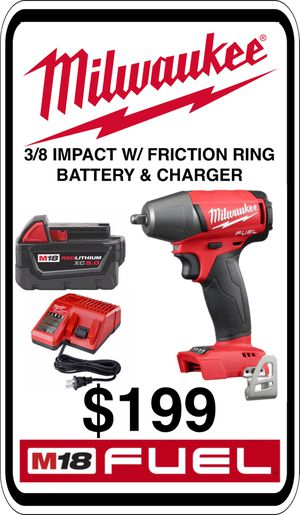 BRAND NEW - Milwaukee M18 3/8 Impact w/ Friction Ring - Charger & 5.0 Battery - We accept trades & Credit Cards - AzBE Deals for Sale in Peoria, AZ