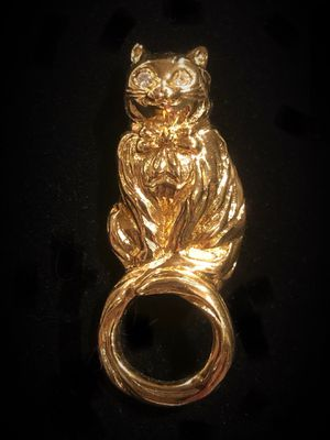 Avon kitty cat pin glasses holder brooch for Sale in Moon, PA