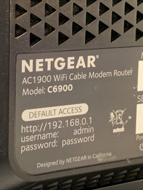 Netgear Nighhawk C6900 Modem/Router Combo