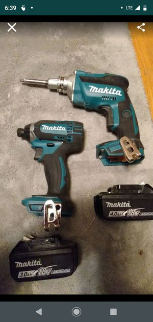 Two Makita hammer drill and impact for Sale in Kansas City, MO