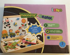 Lewo Wooden Educational Toys Magnetic Art Easel Animals Wooden Puzzles Games 3+ for Sale in Rancho Santa Margarita, CA