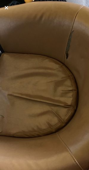 Leather swirl sofa for Sale in Buffalo, NY