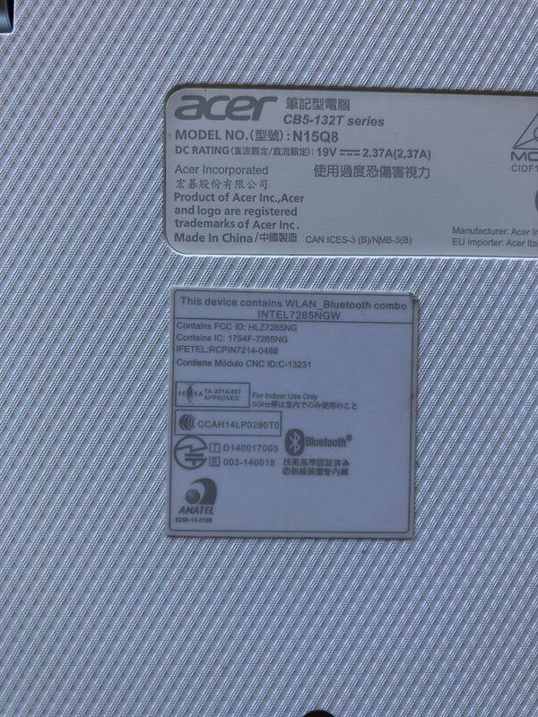 Acer Chromebook Laptop/tablet