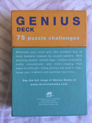Genius pack puzzle cards for Sale in New York, NY