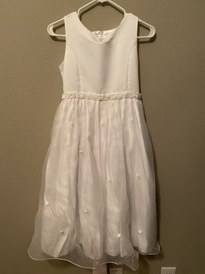 Flower Girl, Formal, Easter Dress (Cinderella Brand) - Ivory, Size 12.5 for Sale in Tulsa, OK