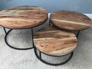 3 Rustic circular trays- used once for wedding! for Sale in Washington, DC