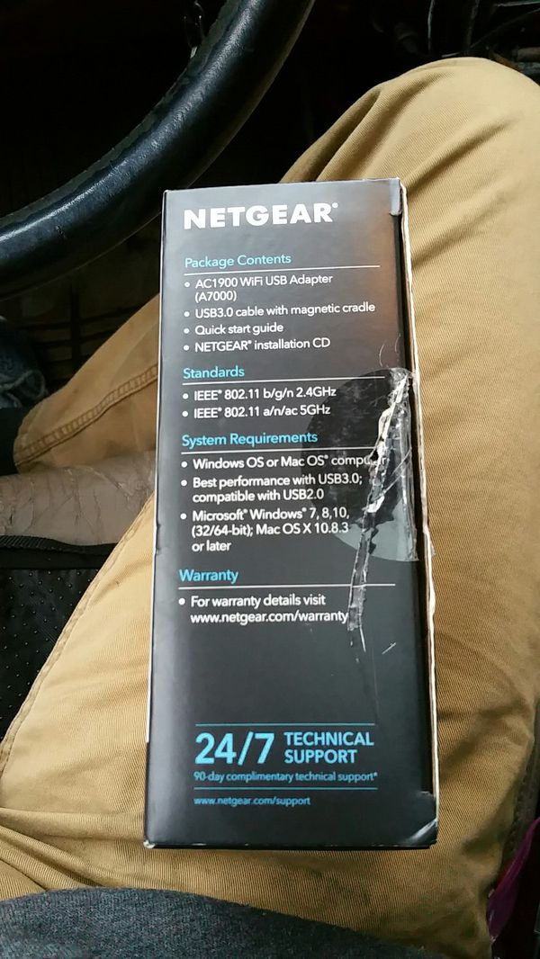 Netgear Nighthawk AC1900 Wi-Fi USB Adapter (A7000-10000S) for Sale in  Kansas City, MO - OfferUp