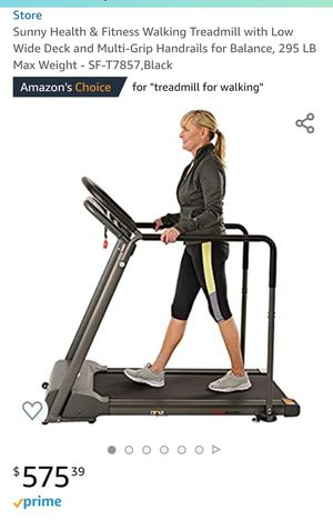 🆕️Sunny Health & Fitness Walking Treadmill with Low Wide Deck and Multi-Grip Handrails for Balance for Sale in Fresno, CA