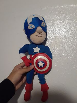 Captain America Stuffed Toy Marvel Unmasked Collection 1 for Sale in Grand Terrace, CA